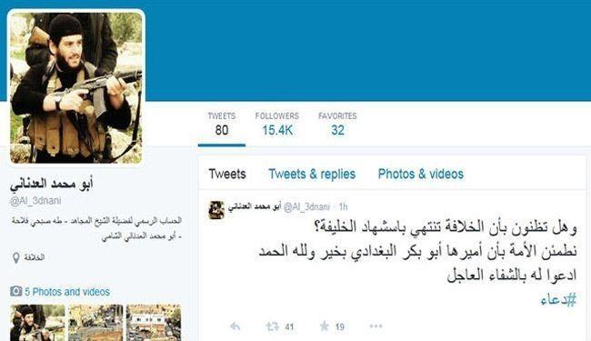 نظر سخنگوی داعش درباره زخمی شدن بغدادی