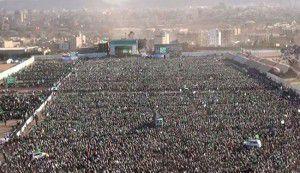 مراسم بیسابقه میلاد پیامبر (ص) در پایتخت یمن +عکس