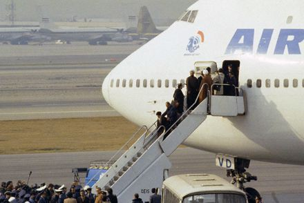 Ayatollah Khomeini Returning to Tehran