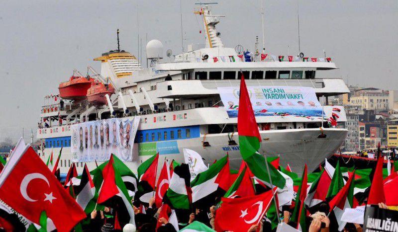 (ภาพ) เรือ MV Mavi Marmara เดินเรือไปสู่กาซ่า ด้วยความหวังที่จะฝ่าการปิดล้อมของอิสราเอล