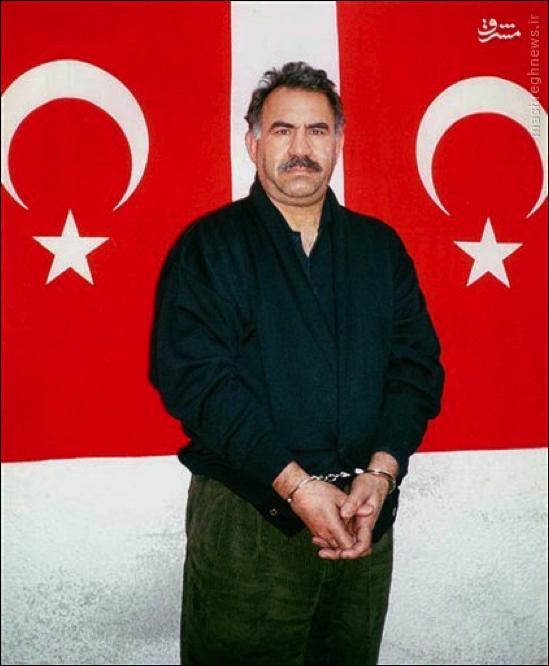 ภาพ อับดุลลอฮ โอจูลาน ผู้นำกลุ่มแบ่งแยกดินแดน ตุรกี ที่ถูกจับตัวโดยมอสสาด
