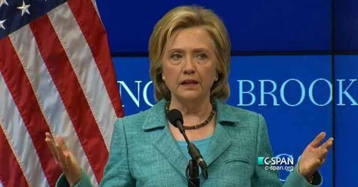 (ภาพ) ฮิลลารี่ คลินตัน ตัวเก็งผู้ถูกเสนอชื่อของพรรคเดโมแครต ไตร่ตรองข้อตกลงอิหร่าน และแสดงวิสัยทัศน์ด้านนโยบายต่างประเทศ ถ้าหากเธอได้รับการเลือกตั้งเป็นผู้นำทำเนียบขาว (Screenshot via CSPAN)