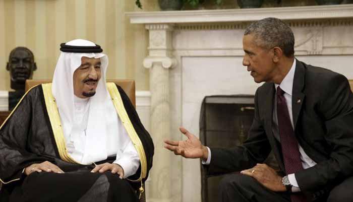 กษัตริย์ซัลมานแห่งราชอาณาจักซาอุดีฯ กับประธานาธิบดีบารัก โอบามา เมื่อเดือนกันยายน ณ ทำเนียบขาว