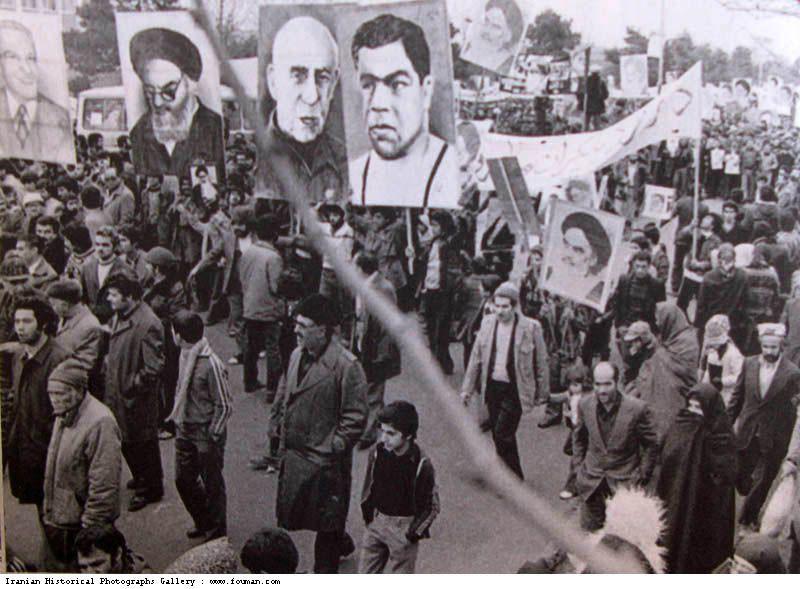 1979_Demonstrations_Posters_Khomeini_Mosaddegh_Takhti