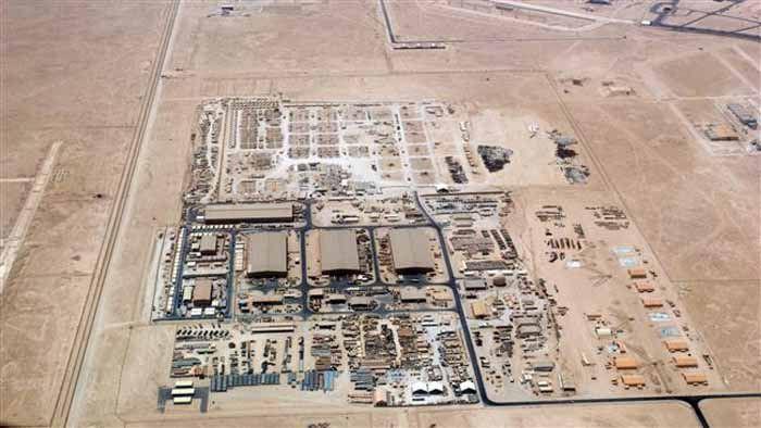 (ภาพถ่ายทางอากาศ ฐานทัพอเมริกาใน al Udeid กาตาร์ )