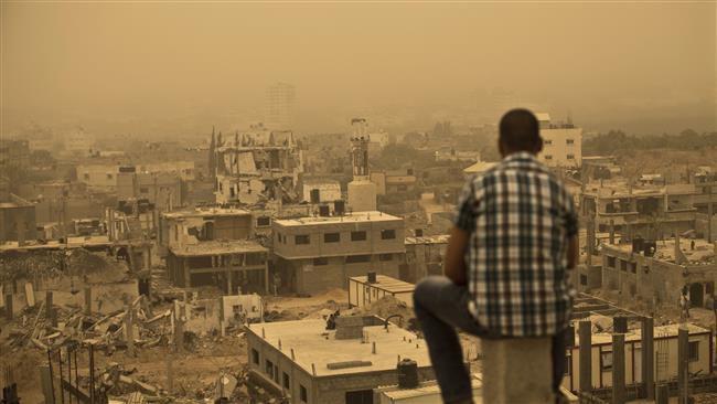 (แฟ้มภาพ ซากปรักหักพังในฉนวนกาซาจากการุกรานของอิสราเอล ( ภาพ AFP)