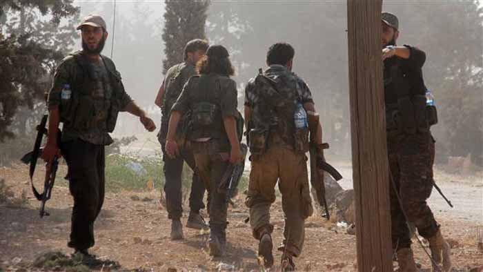 (แฟ้มภาพ กลุ่มก่อการร้าย อัลนุศราฟรอน์ ซึ่งเป็นเครือข่ายของอัลกออิดะห์ ในเมืองอาเลปโป ทางเหนือของซีเรีย ซึ่งได้เปลี่ยนชื่อใหม่เรียกว่า ฟัตฮุล ชาม )